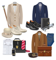 Male Fashion Accessories Set 3 vector image