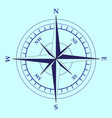 nautical compass equipment in format vector image