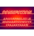 Neon Connection One Line Font vector image vector image