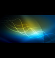 neon wave background vector image vector image