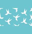 origami humingbird bird seamless pattern vector image vector image