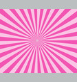 pink modern stripe rays background pink sunburst vector image vector image