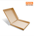 Pizza box packing vector image