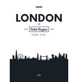 poster city skyline london flat style vector image vector image