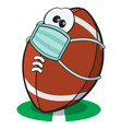 quarantine football character vector image