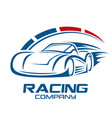 racing car and logo speed vector image