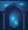 ramadan kareem islamic window background vector image vector image