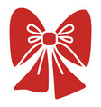 red xmas bow icon simple style vector image vector image