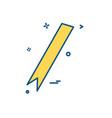 ribbon icon design vector image vector image