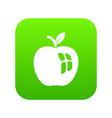 ripe apple icon green vector image