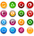 Round color arrow icons vector image