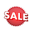 sale badge vector image vector image