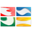 Set of abstract templates for design-business vector image