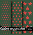 set of christmas backgrounds of stars vector image vector image