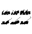 set of lawnmower vector image