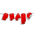 set of red tags vector image vector image