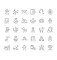 set simple icons robots vector image vector image
