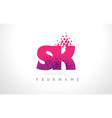 sk s k letter logo with pink purple color and vector image vector image