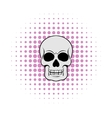 Skull icon comics style vector image vector image
