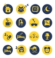 Sleep and insomnia icons vector image