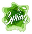 spring paper art vector image vector image