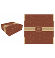 Square Brown Cake Box vector image vector image