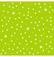Star Polka Dot Green Background vector image vector image
