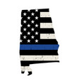 state alabama police support flag vector image vector image