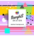 Trendy memphis cards design 1980s background vector image vector image