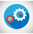 Troubleshooting Symbol Gears Icon on Stylish vector image vector image