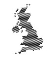 united kingdom map from 3d black cubes isometric