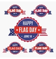 USA Flag day badges set vector image vector image