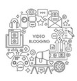 video blogging thin line concept vector image vector image