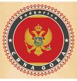 vintage label cards montenegro flag vector image vector image