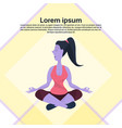 violet cartoon character girl sitting pose doing vector image