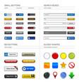 web design button element a set of buttons box vector image vector image