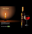 wine advertising on nice background vector image
