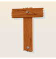 Wooden letter t vector | Price: 1 Credit (USD $1)