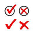yes no check box list marker ticks icons vector image vector image