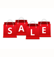 Sale on Shopping Bags vector image