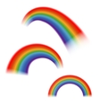 Set of bright rainbows isolated white vector image