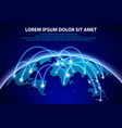 internet and global connection background vector image