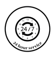 24 hour icon vector image vector image