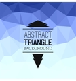 Abstract blue triangle pattern vector image