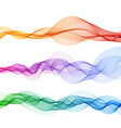 abstract color wave background smoke vector image vector image