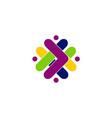 abstract shape arrow color logo vector image