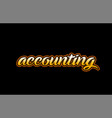 accounting word text banner postcard logo icon vector image vector image