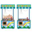 Arcade game machine with dolls vector image vector image