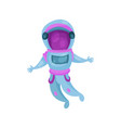 astronaut character in space suit spaceman flying vector image vector image