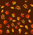 autumn leaves seamless pattern on dark background vector image vector image